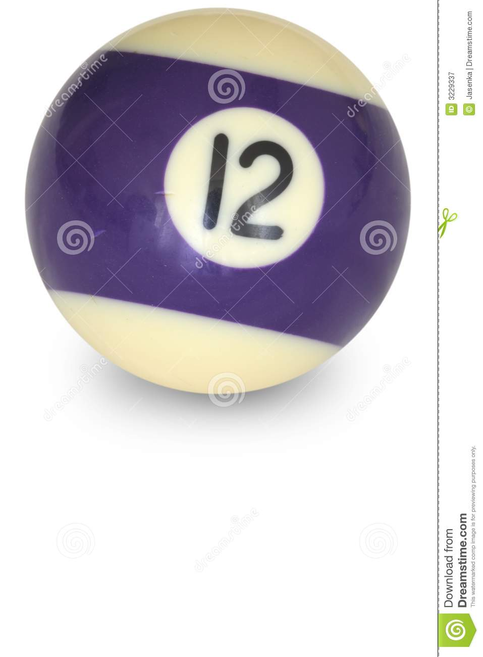 Pool Ball Number 12 Stock Image. Image Of Ball, Hobby