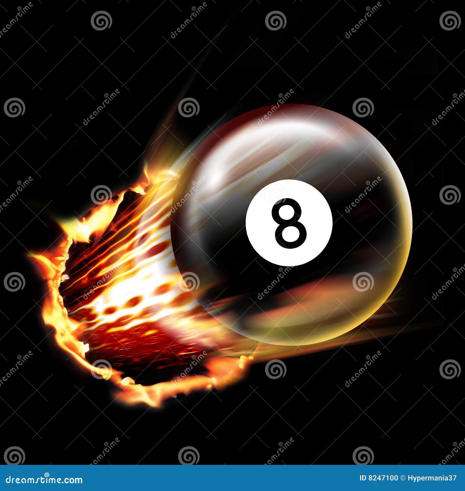 Pool Ball Shot Stock Illustration Image Of Light Comet