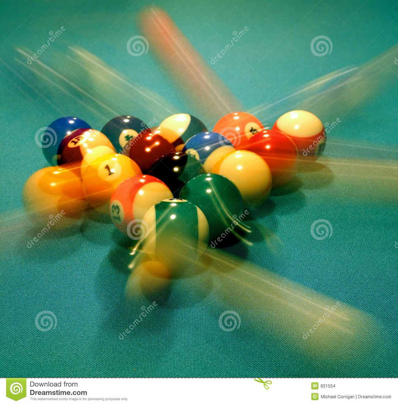 Pool Balls Breaking Stock Photo Image Of Game Stripes
