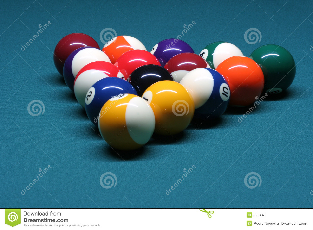 pool balls in rack position royalty free stock photography image 596447. Black Bedroom Furniture Sets. Home Design Ideas
