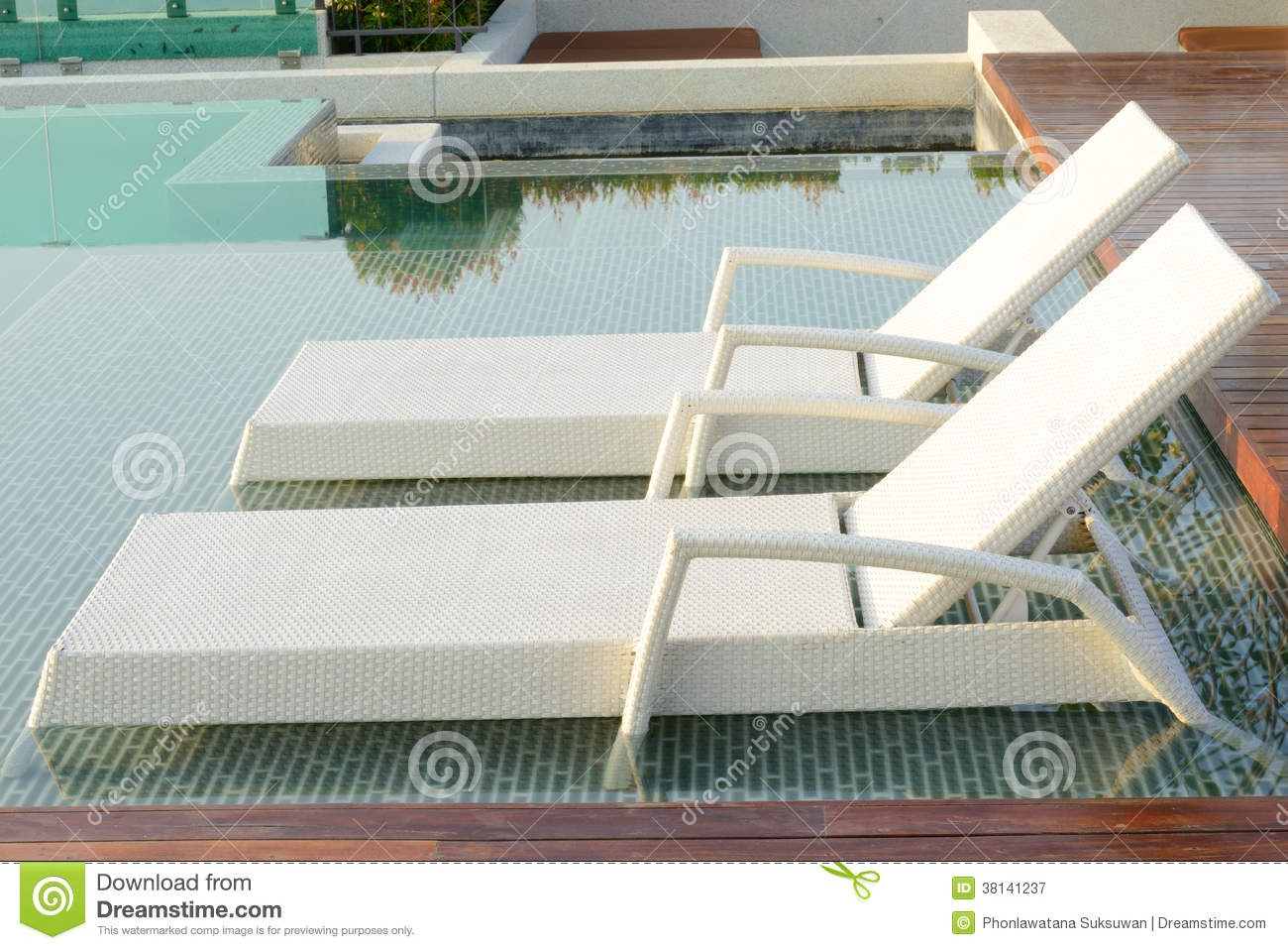 Pool bed beside swimming pool stock image image of for Swimming pool bed