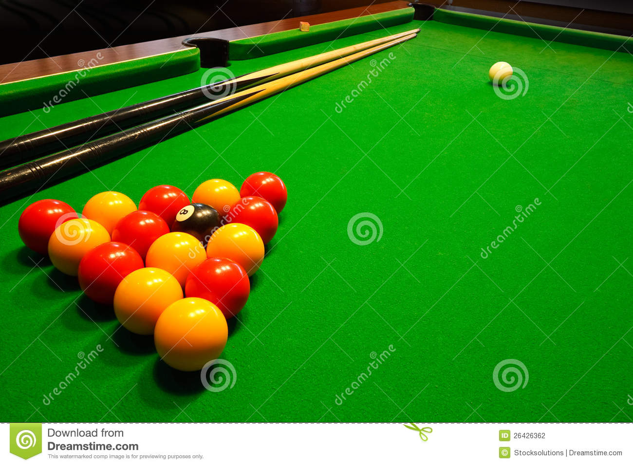 Pool Billiards Table Stock Photography Image 26426362