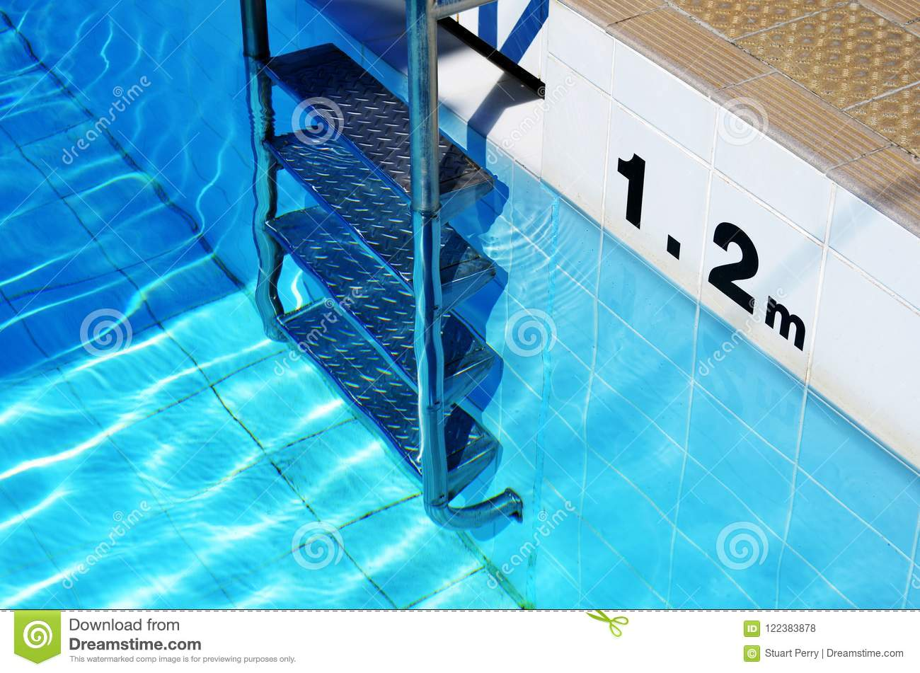 swimming pool ladder and depth marker stock photo image of energy