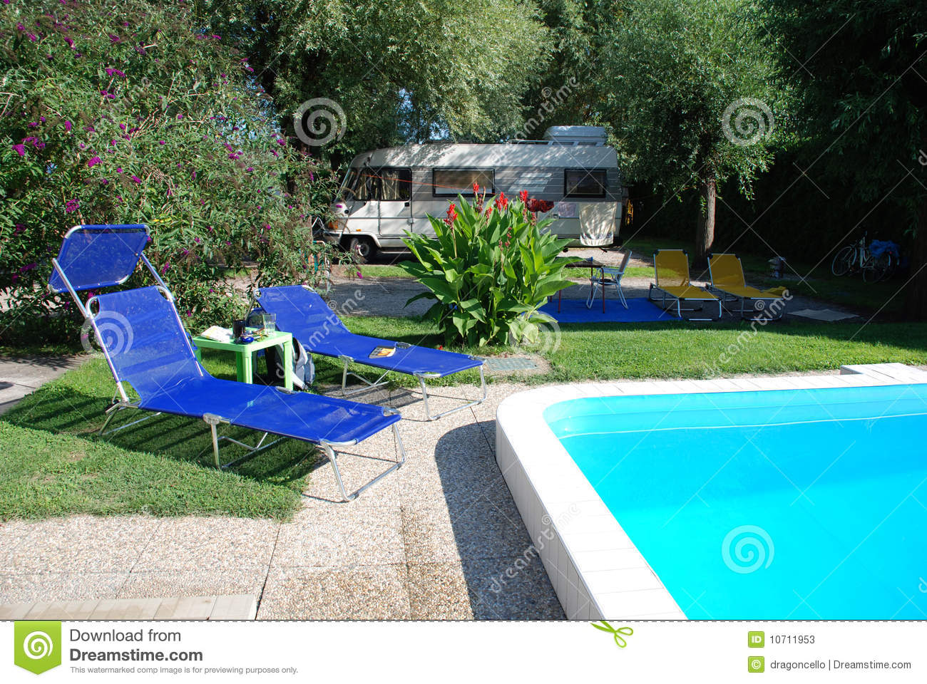 Pool At Camp Site Stock Photos Image 10711953