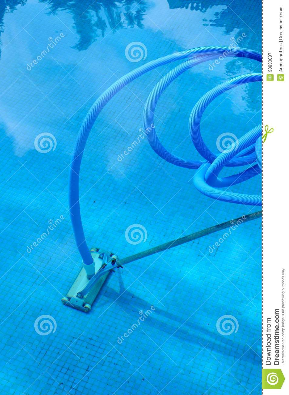 Pool Cleaning Royalty Free Stock Photography Image