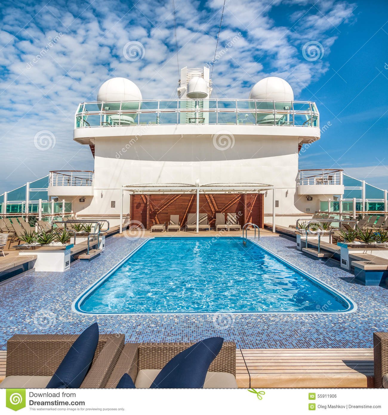 Pool on a cruise ship stock photo. Image of luxury, deck ...