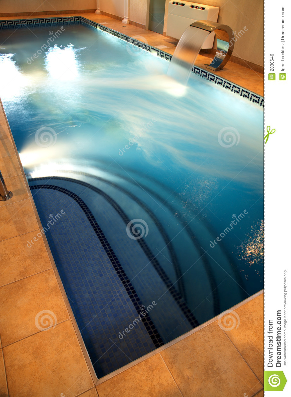 Pool with current water