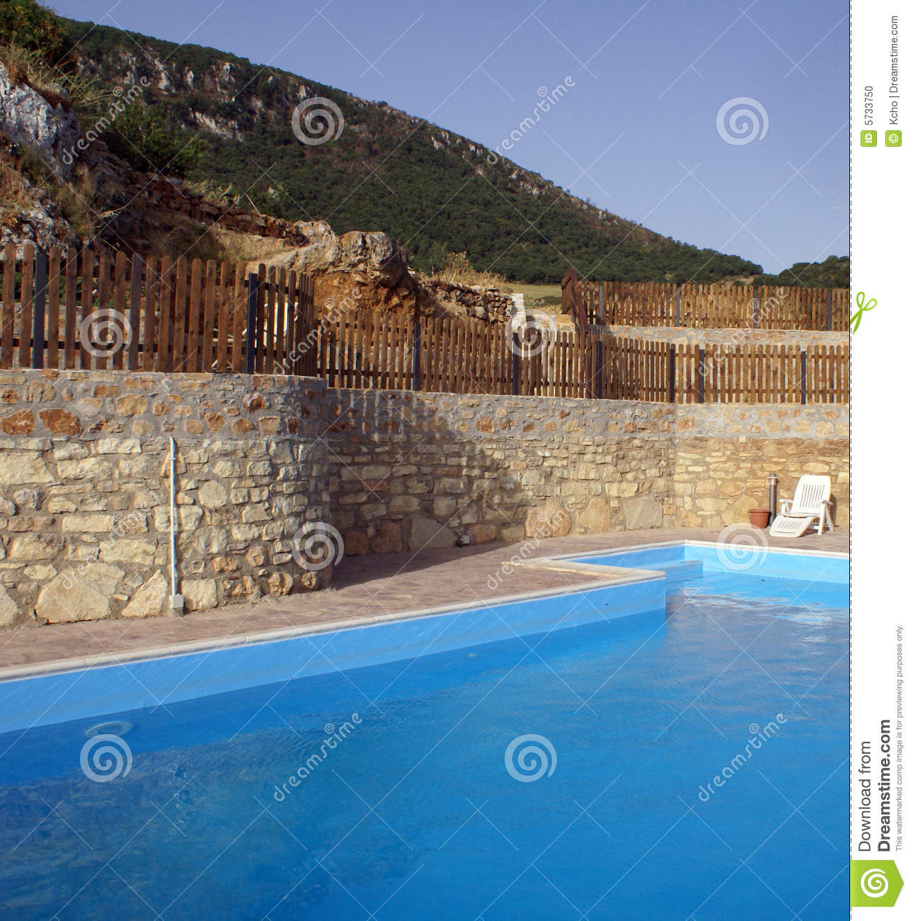 Pool Deck In Countryside Stock Image