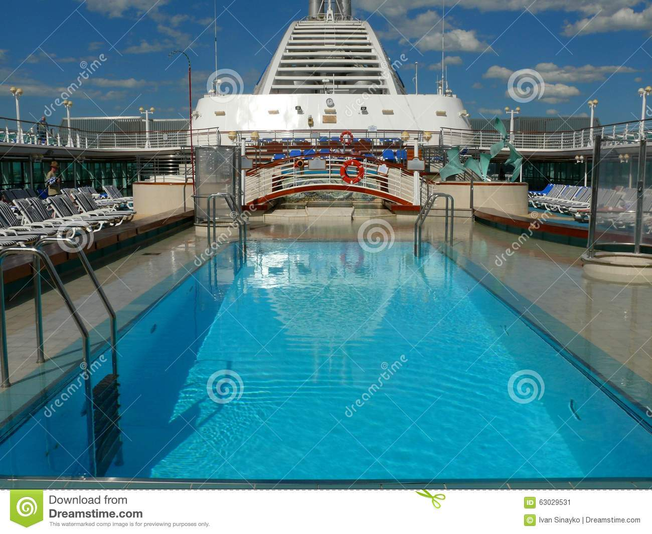 Pool Deck On The Cruise Ship Editorial Photo Image Of Blue Jacuzzi 63029531