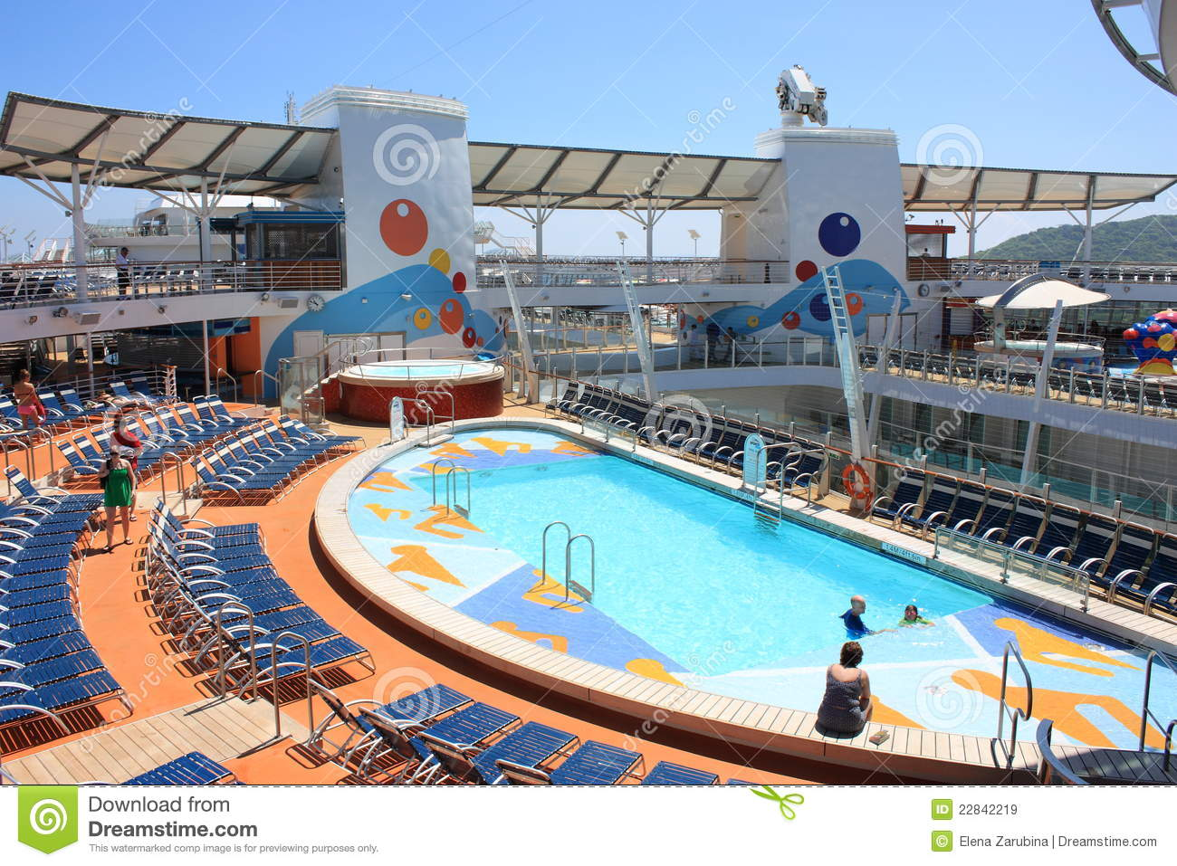 37dd9884b2a The beautiful outdoor sports pool zone on board the biggest cruise ship in  the world Oasis of the seas owned by Royal Caribbean International