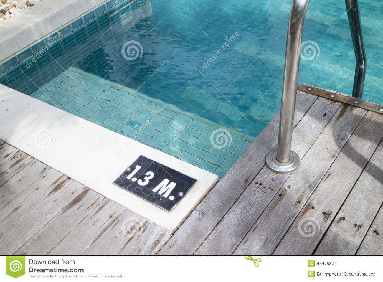 Pool Depth Sign Stock Image Image Of Clear Depth Fresh