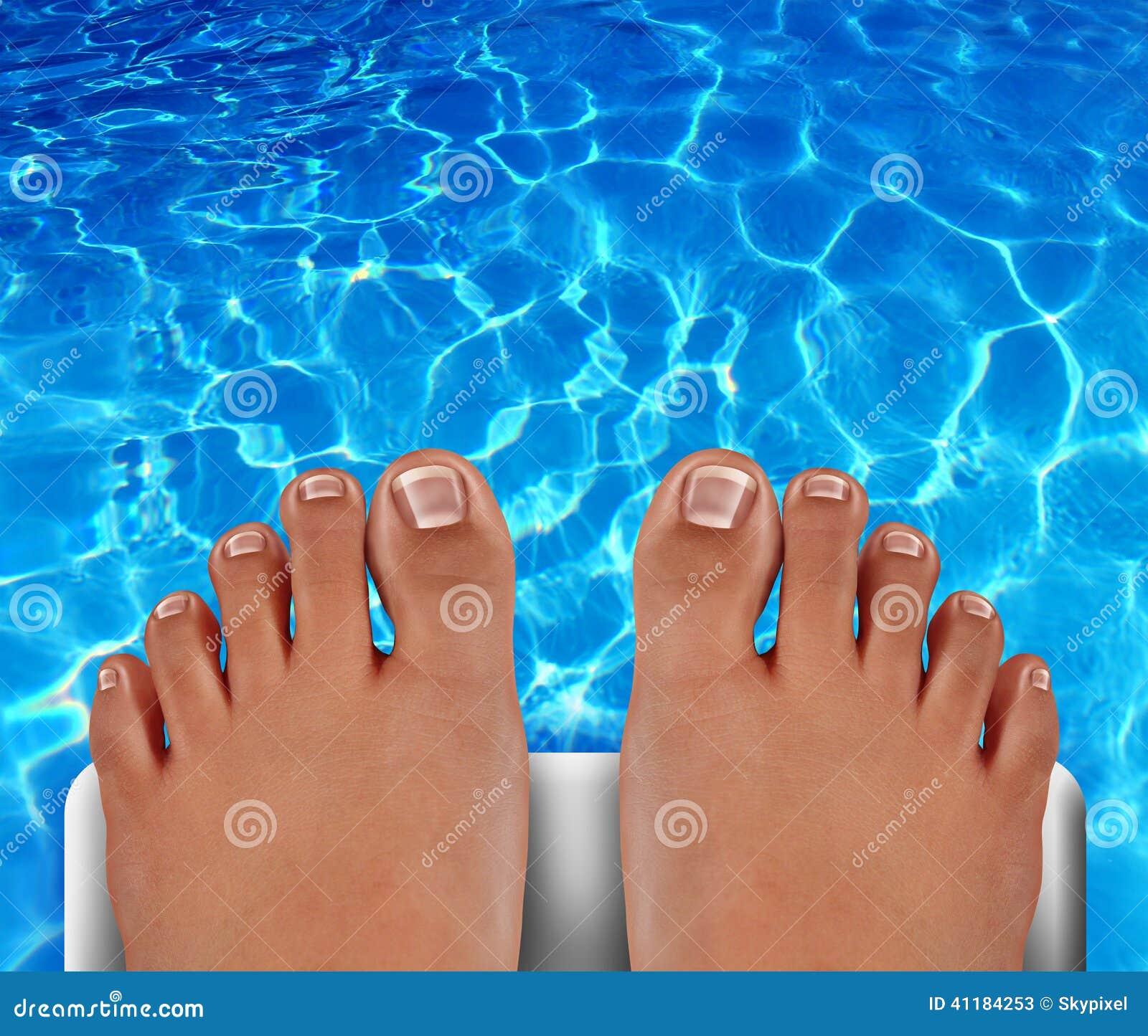 Pool Diver Stock Illustration