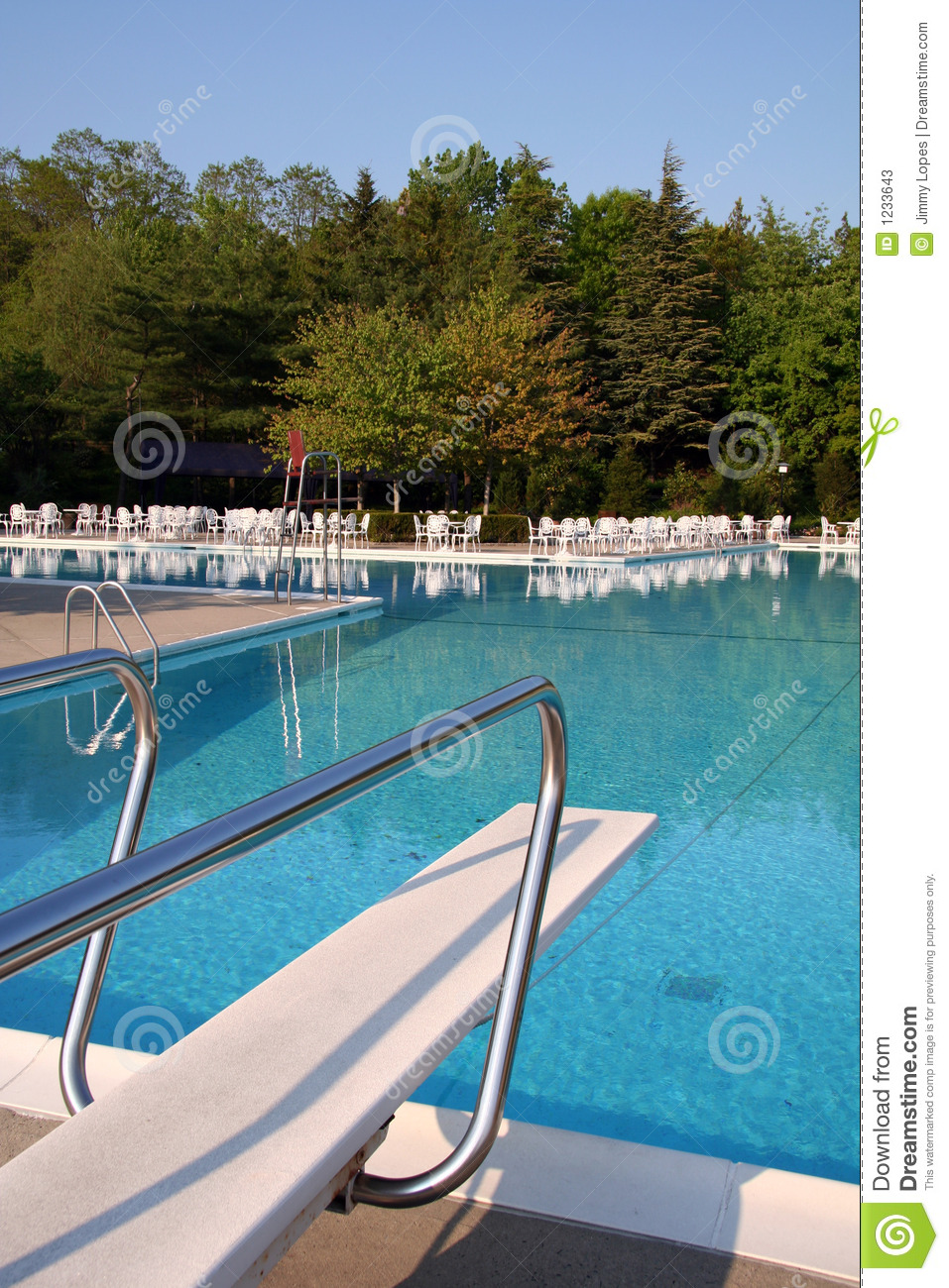 Pool With Diving Board Stock Photos Image 1233643