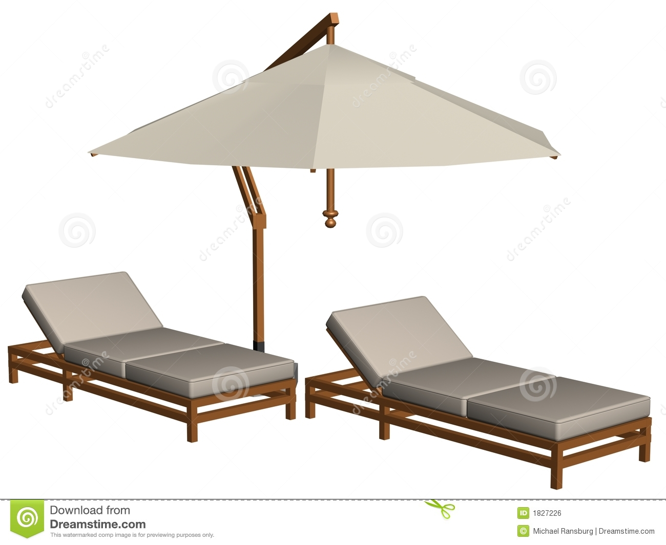 Pool Furniture Stock Illustration Of Model