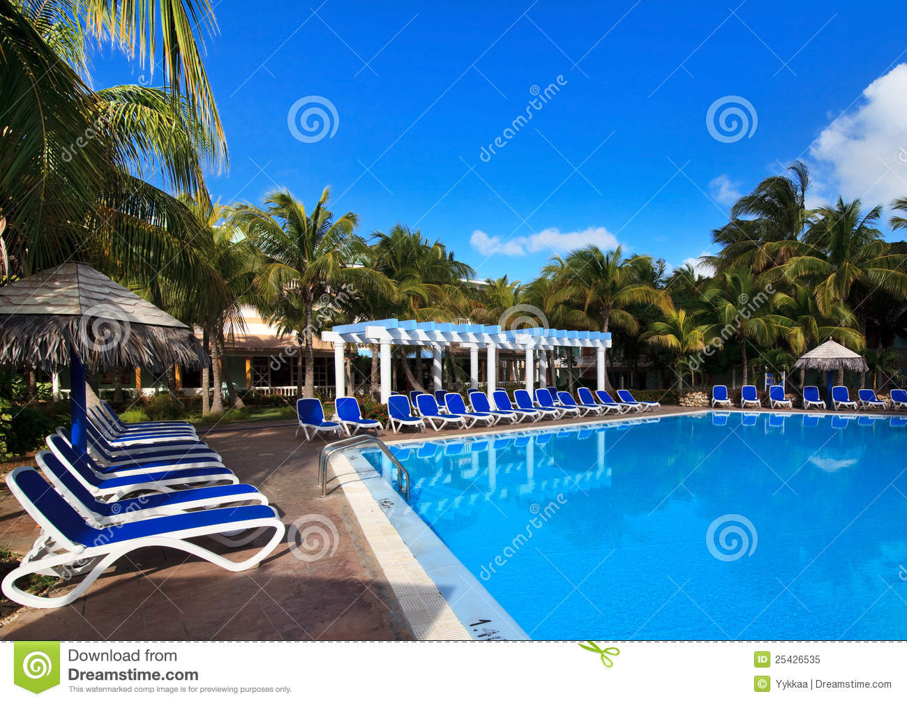 Pool of hotel Melia Cayo Guillermo.