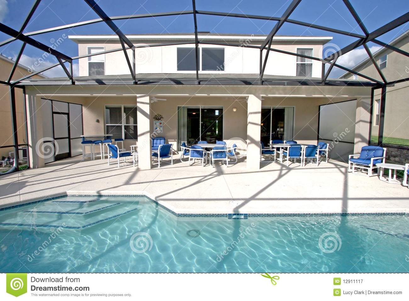 Pool And Lanai Royalty Free Stock Photography Image 12911117