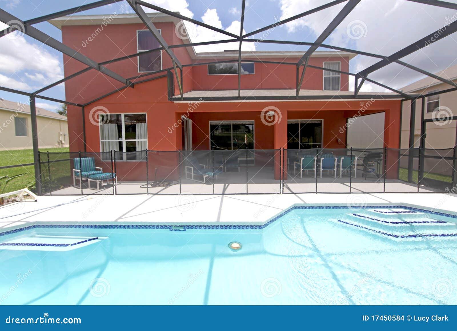 Pool and lanai stock photo image of florida swimming for Florida lanai