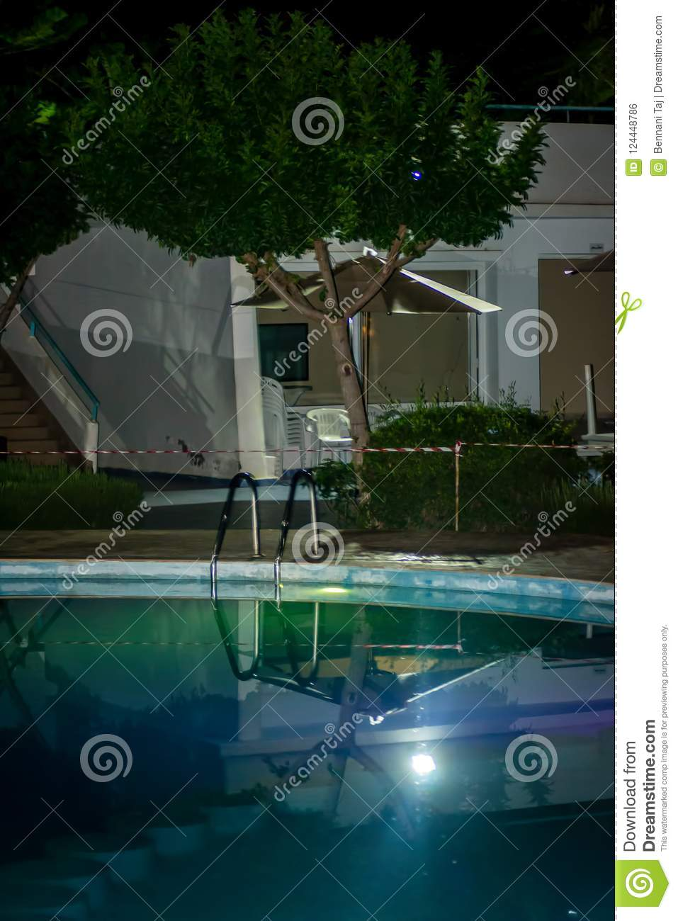 A pool on the night
