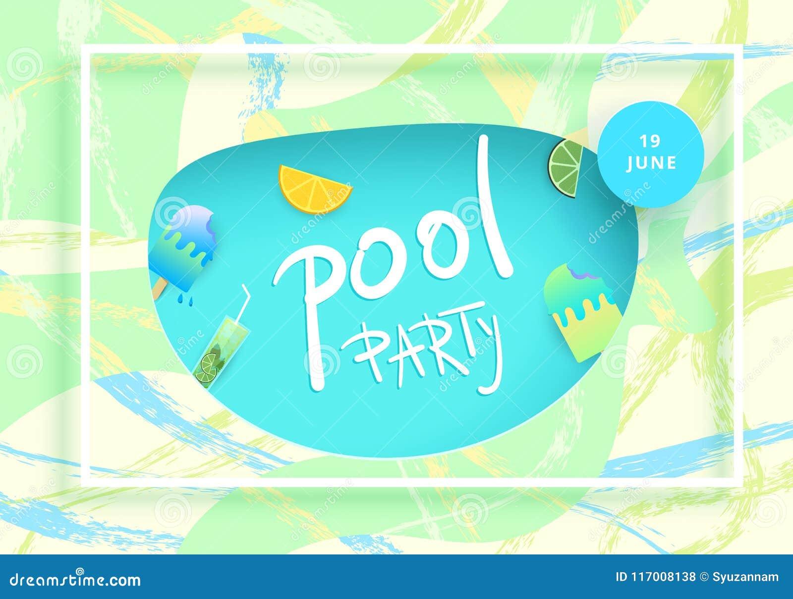 Pool Party Flyer Vector Illustration Stock Vector Illustration