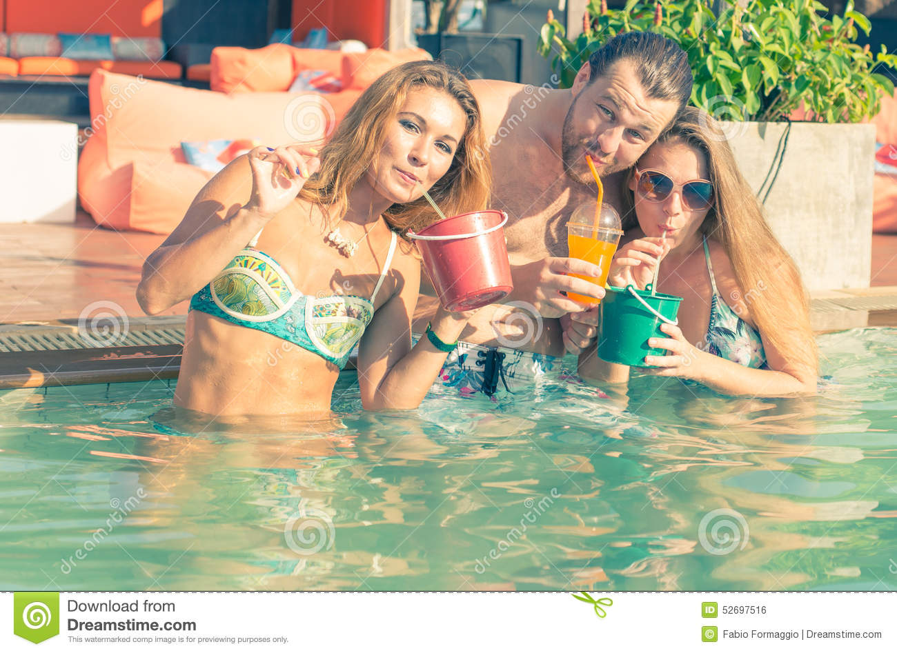 Pool Party Stock Photo Image Of Dancing Having Hours 52697516