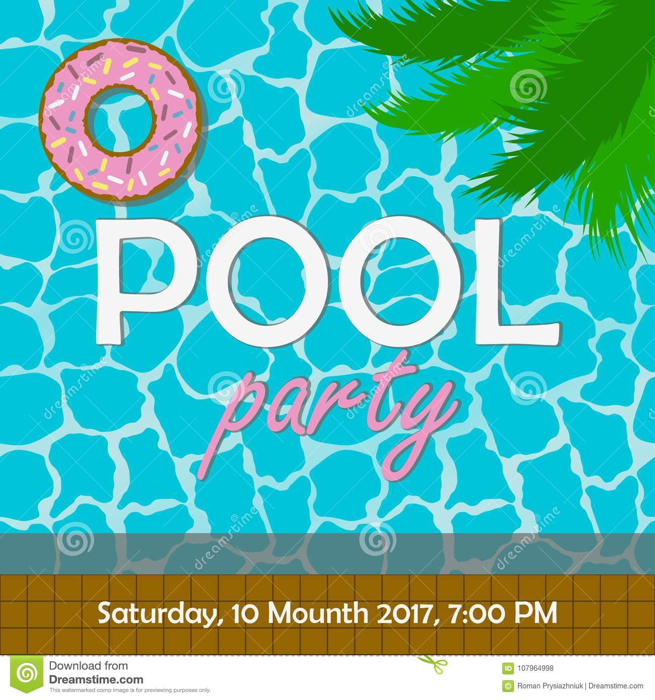 pool party invitation stock photos 84 images. Black Bedroom Furniture Sets. Home Design Ideas