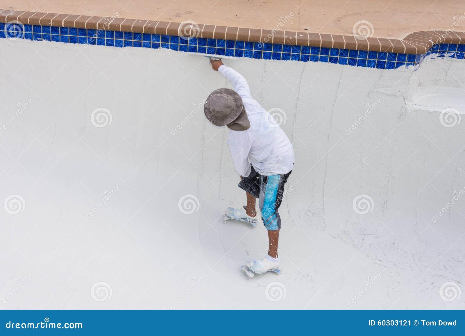 Pool Plaster Resurfacing Diamond Brite Stock Photo Image 60303121
