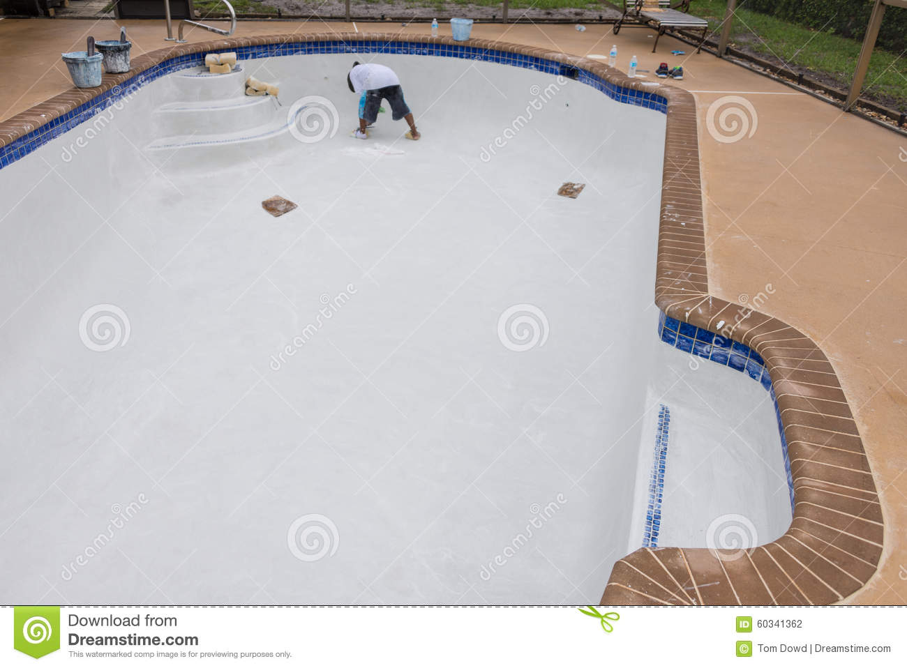 Pool Plaster Resurfacing Diamond Brite Stock Photo Image