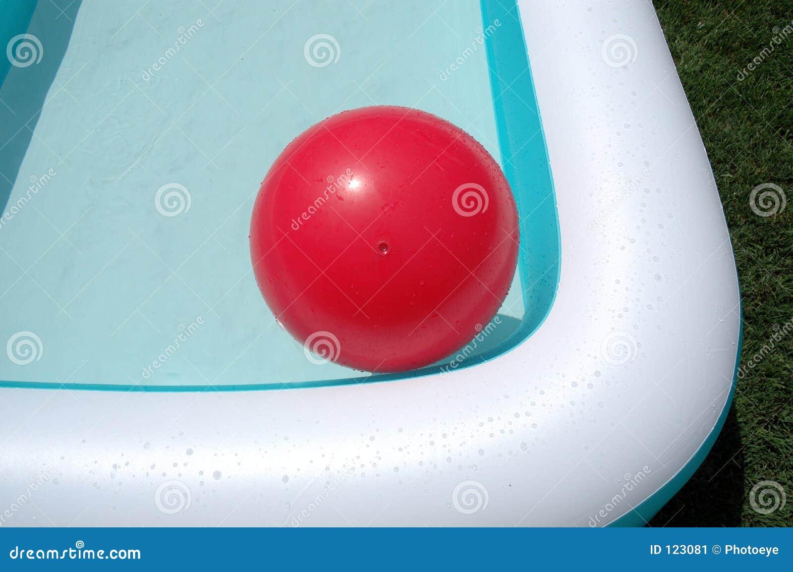Pool And Red Big Ball Stock Image Image 123081