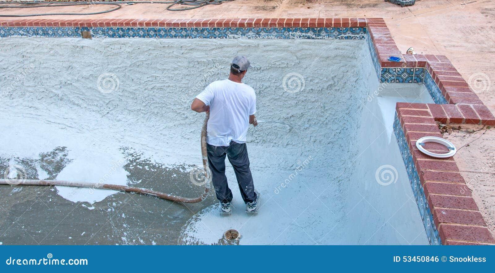 Pool Refinishing stock photo. Image of plaster, ceramics - 53450846