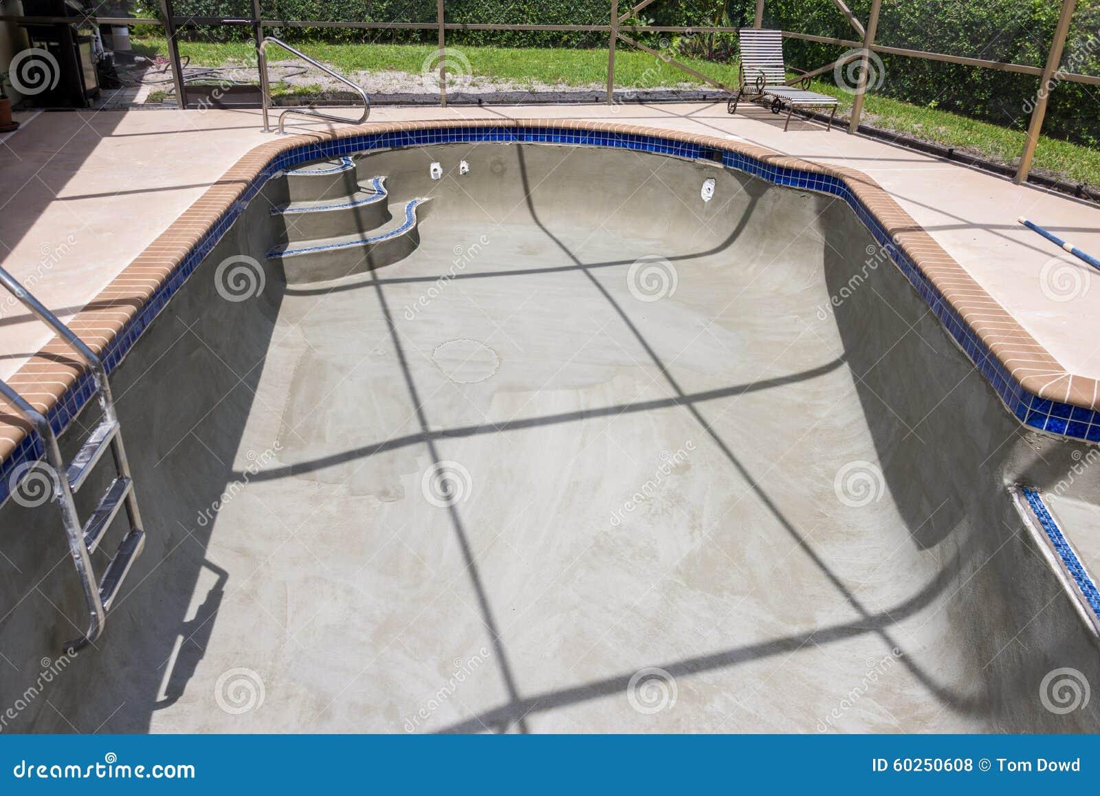 Pool Resurfacing And Gray Cement Bond Coat Stock Photo ...