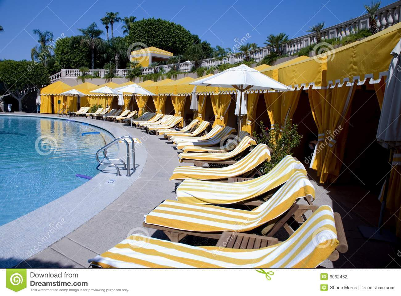 Enjoyable Pool Side Cabanas At Luxury Resort Stock Photo Image Of Gmtry Best Dining Table And Chair Ideas Images Gmtryco