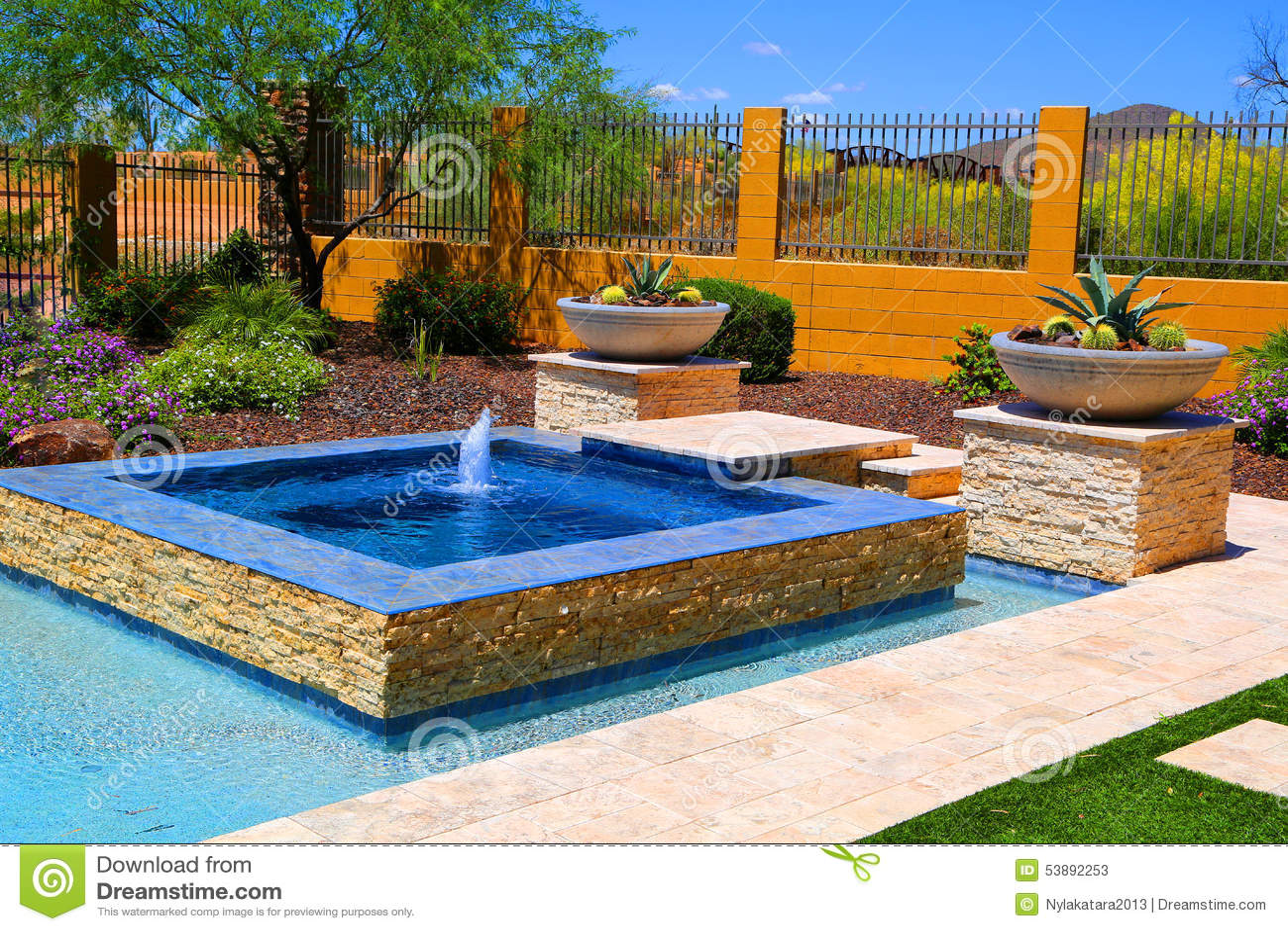 Pool Side Stock Photo Image 53892253