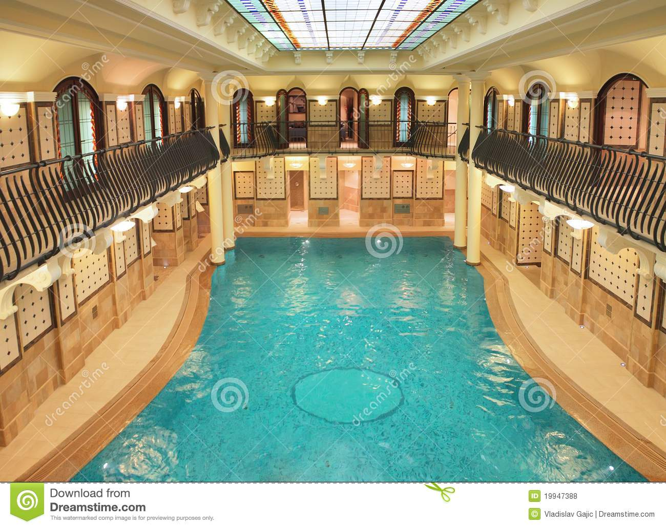 Pool in the spa center royalty free stock photos image for Salons center