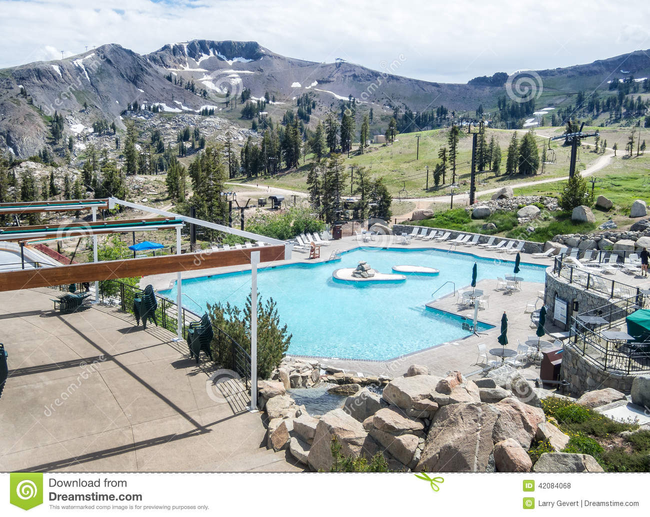Pool and squaw peak stock photo image of luxury blue - High camp swimming pool squaw valley ...