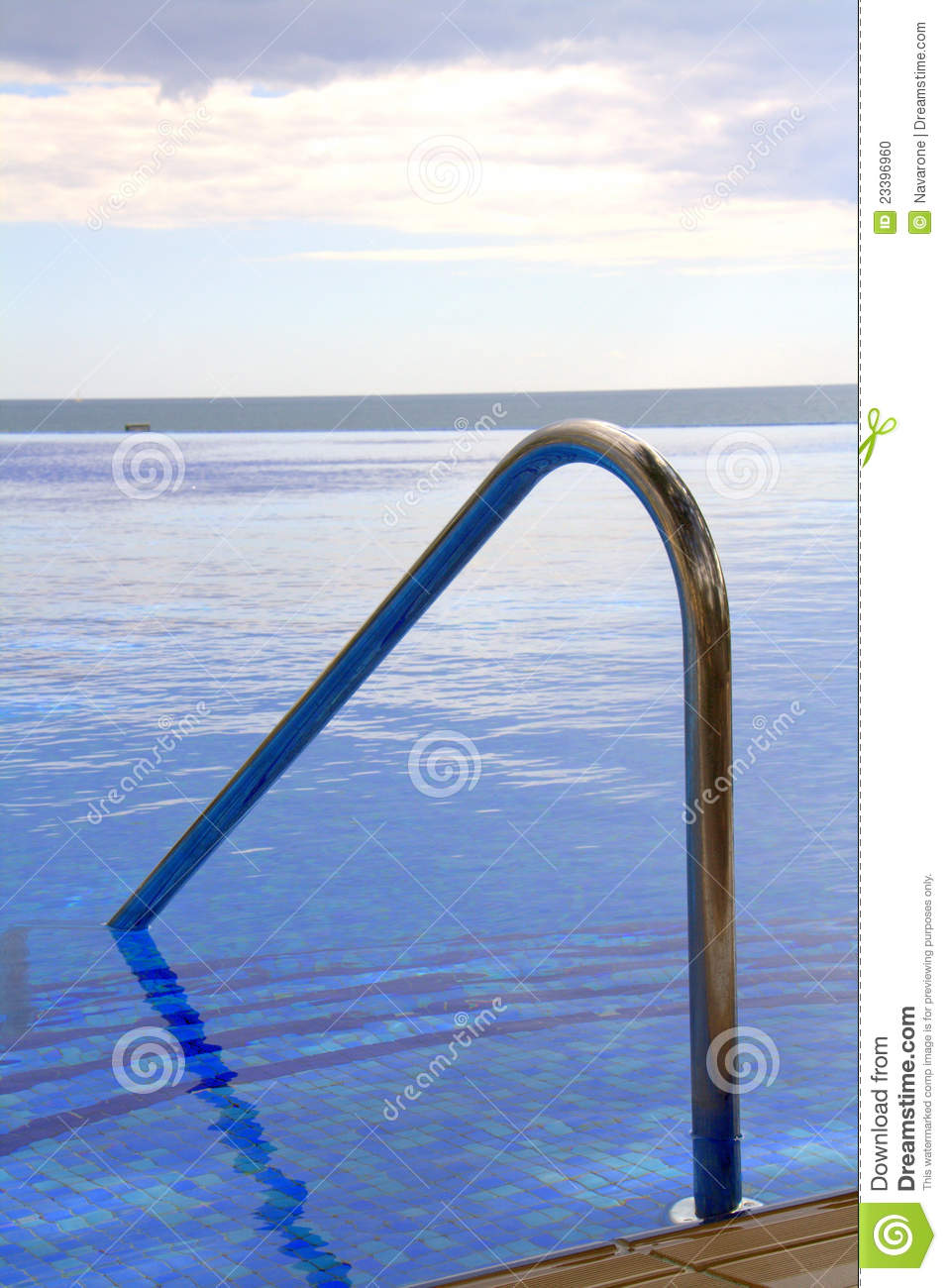 Swimming Pool Step Handrail : Pool steps and handrail stock photo image of oceanfront