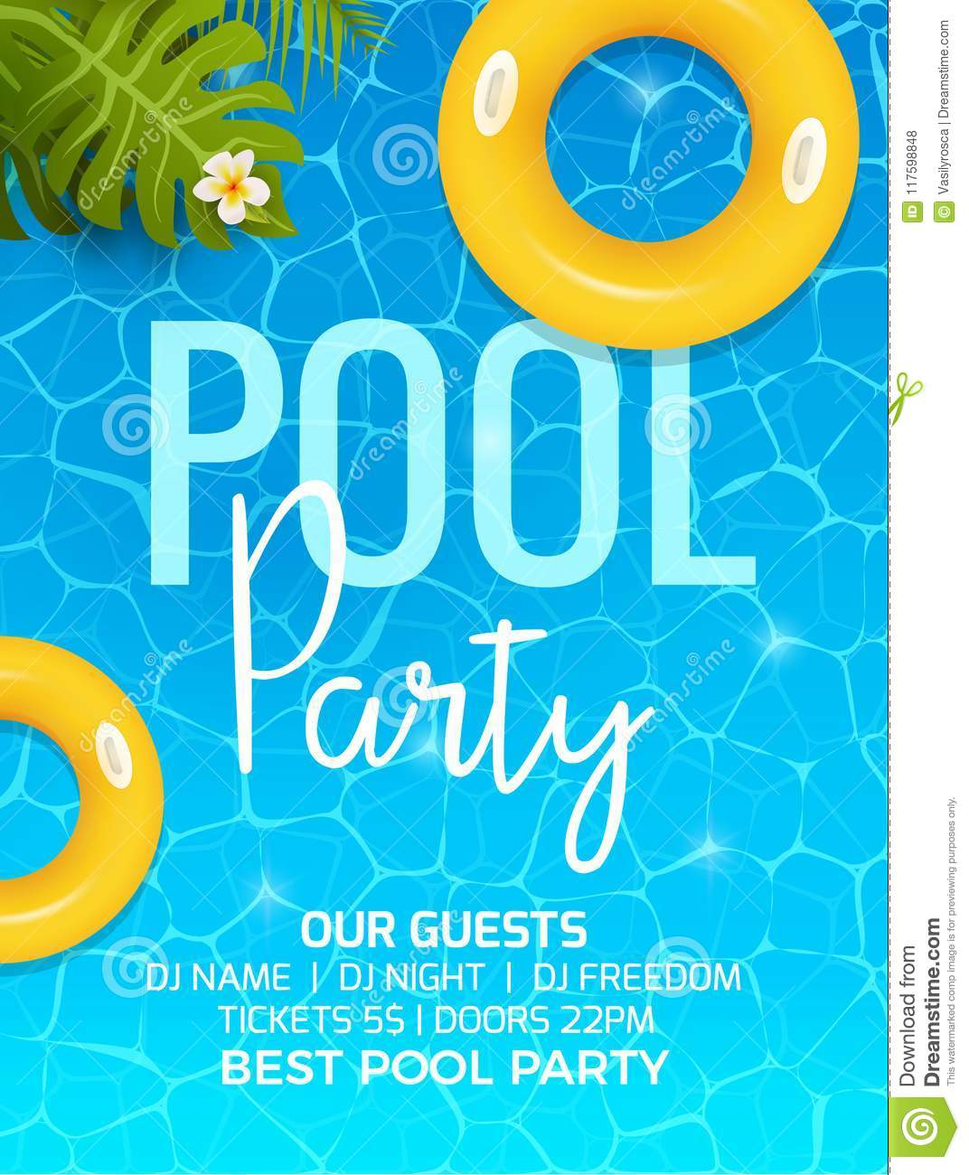 Pool summer party invitation template invitation pool party pool summer party invitation template invitation pool party invitation with palm poster or flyer maxwellsz