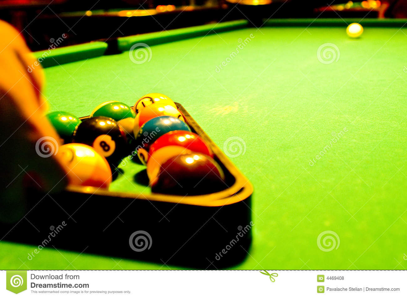 Pool Table Stock Photo Image Of Shooting Long Table - How long is a pool table