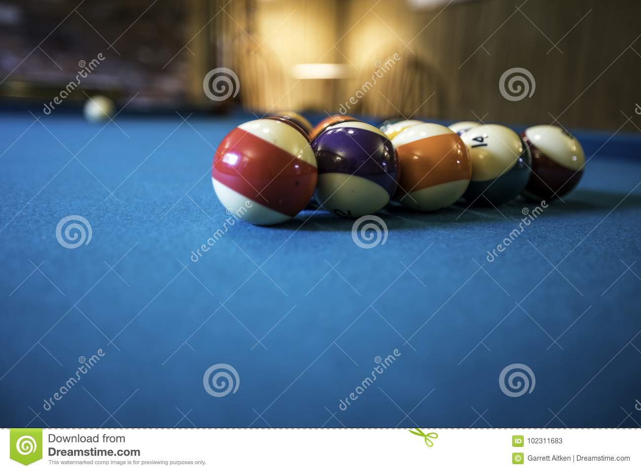 Pool Table stock image. Image of recreation, indoors - 102311683