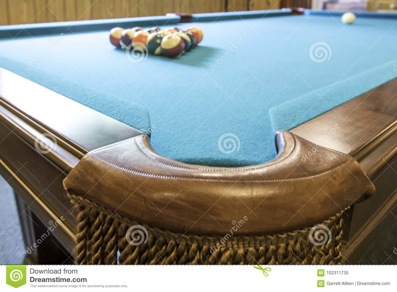 Pool Table Stock Image Image Of Competition Brown - Competition pool table