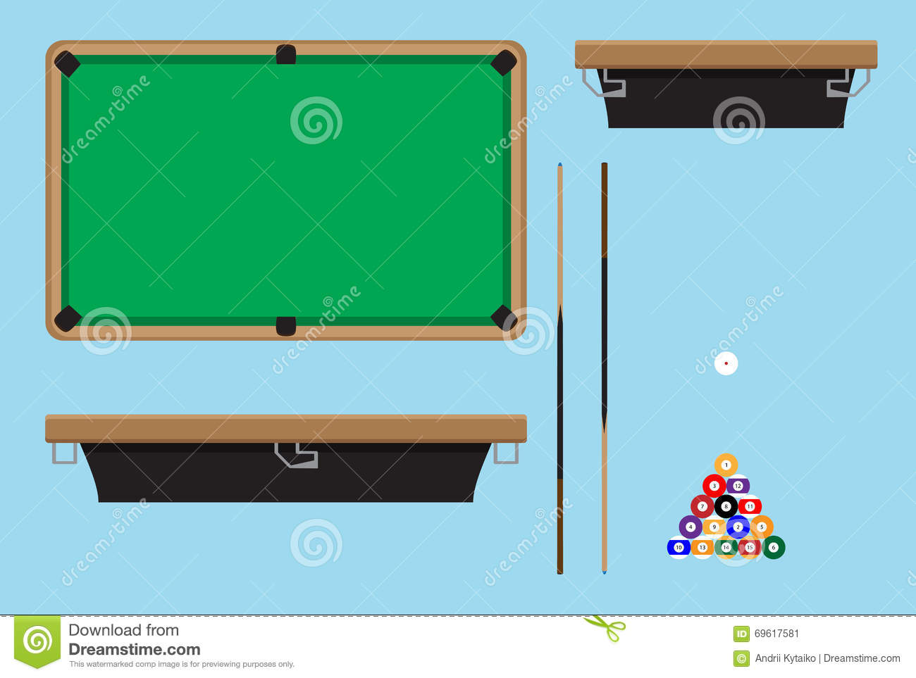 Royalty Free Vector. Download Pool Table Top ...