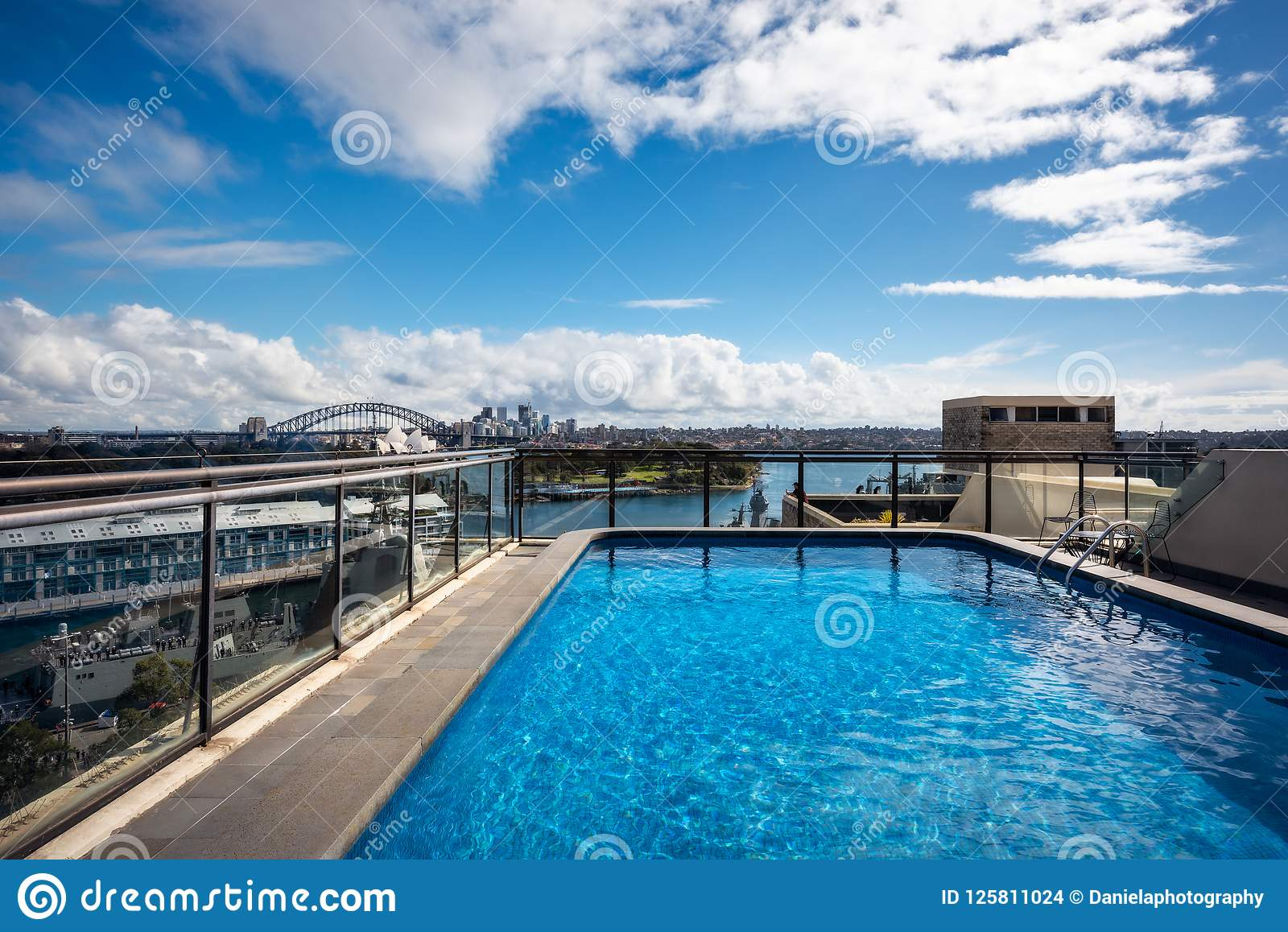 A Pool With A View In Sydney, Australia  Editorial Stock