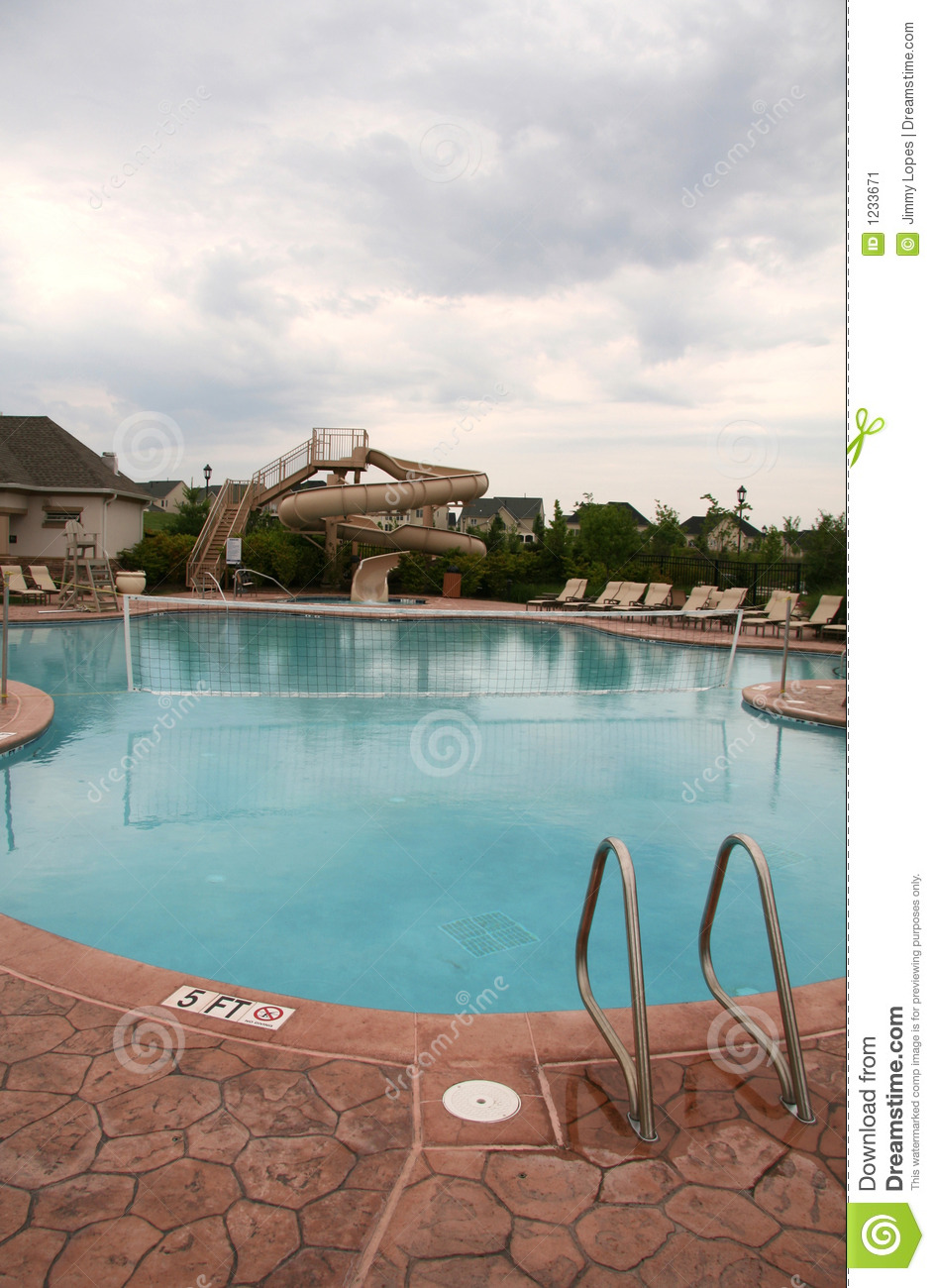 Pool with volleyball net stock image image 1233671 for Pool design for volleyball