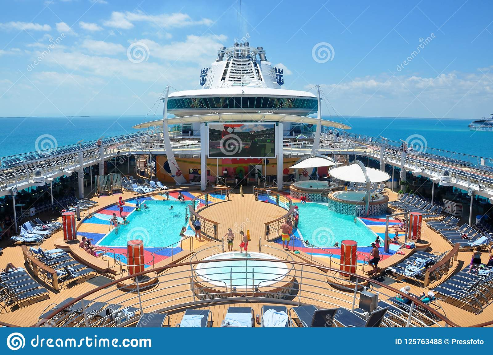 pooldeck onboard liberty of the seas royal caribbean editorial