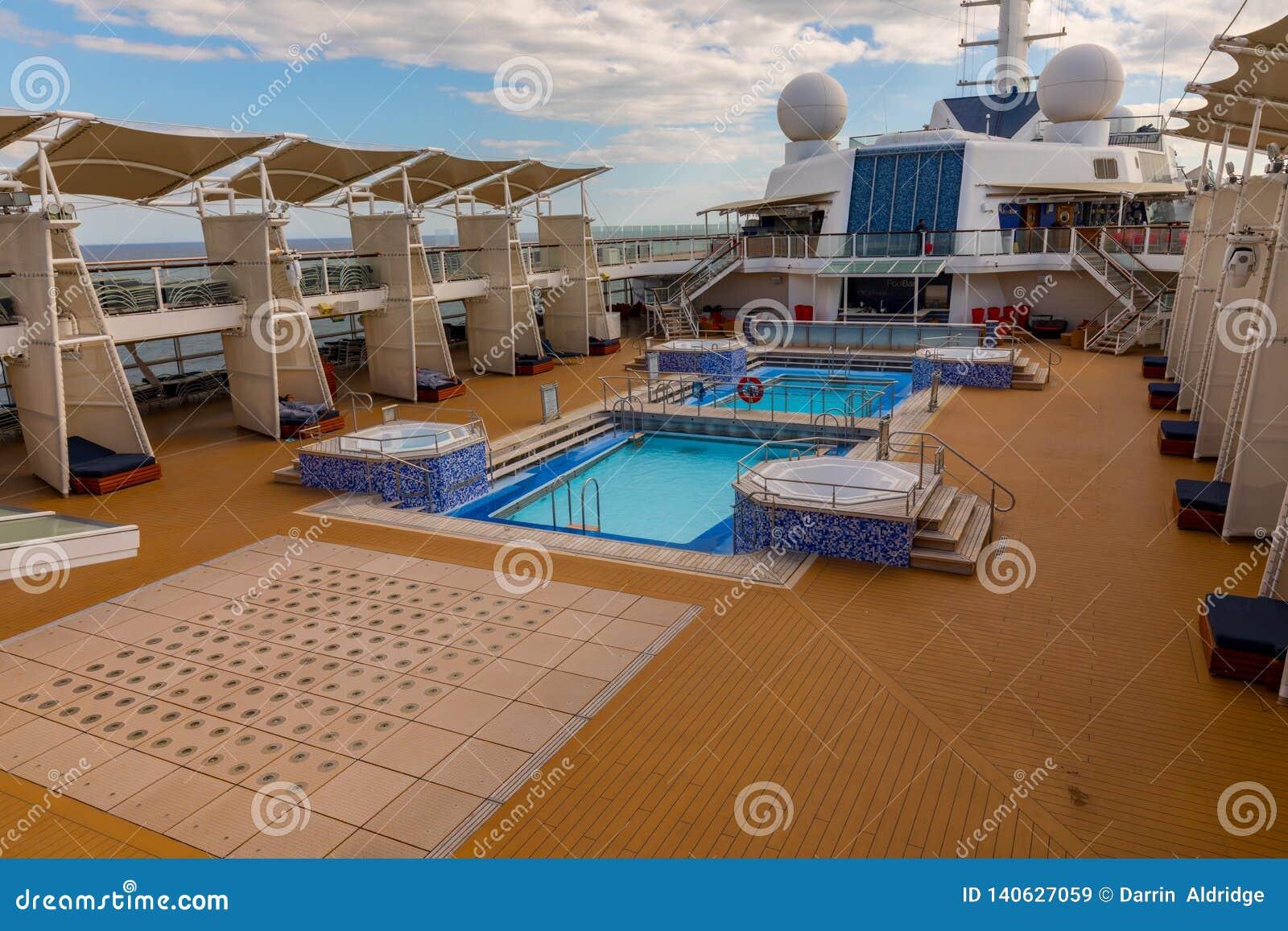 Pools Above Deck On Celebrity Cruise Stock Image Image Of Cruises Level 140627059