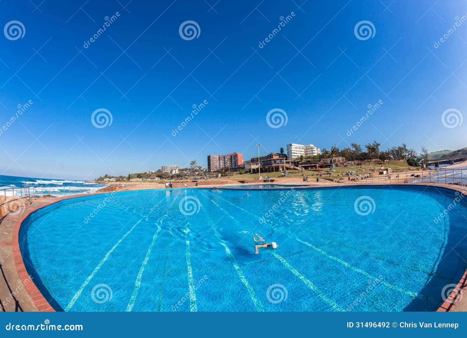 Pools Swim Blue Ocean Beach Editorial Photography Image