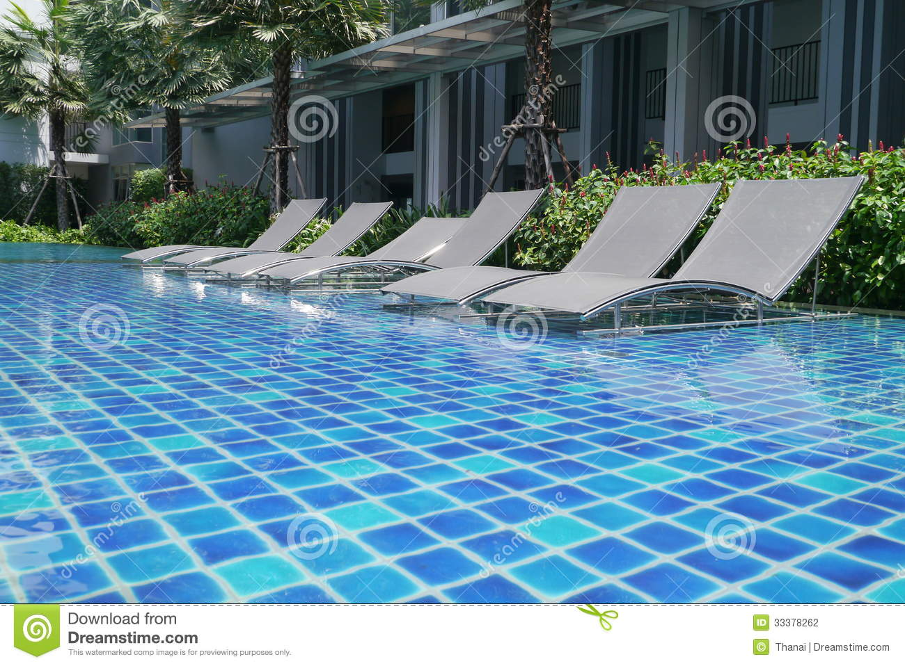 Poolside bed stock photography image 33378262 for Outdoor pool bed