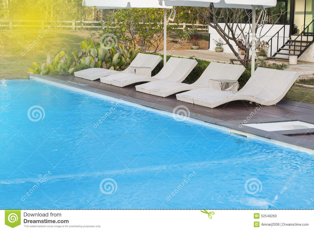 Poolside bed stock photo image 52548260 for Swimming pool bed