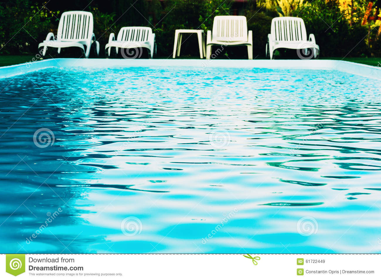 Poolside chairs stock image. Image of chair, deck ...