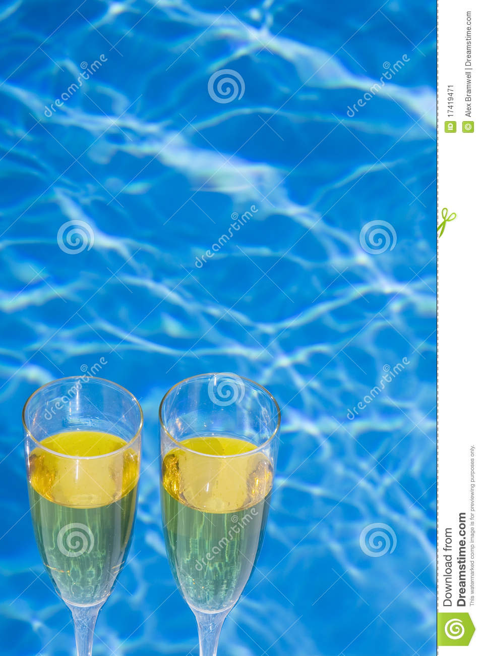 Poolside Champagne Stock Image Image 17419471