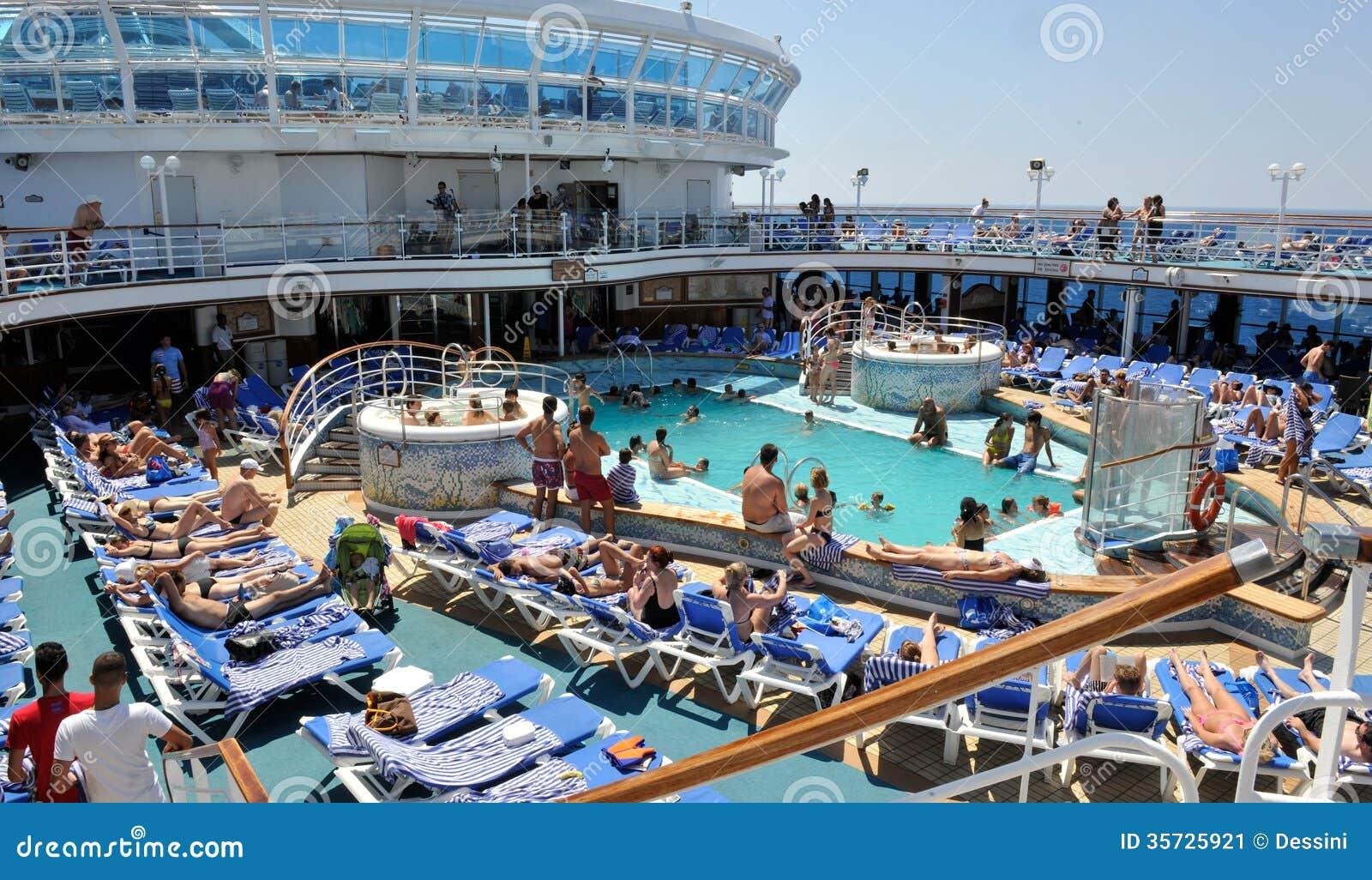 Poolside Cruise Ship Editorial Photo Image 35725921